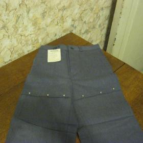 Новые х/б джинсы советских времен ( 1982 год), размер 34, рост 140