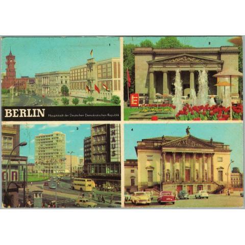 Открытка Берлин - столица ГДР 1970-е